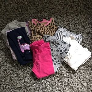 Lots of 24M Pajamas and Play Clothes